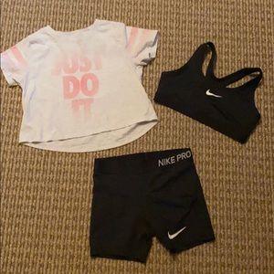 Nike Big Girl Athletic Set Bundle